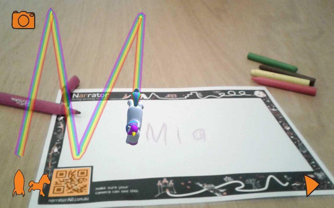Narrator AR: Writing Augmented Reality App