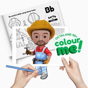 Octaland 4D+ Color Me! Book